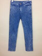 Women's/Unisex American Apparel 'Slim Slack' Blue Jeans Lavado Ácido. 27/31
