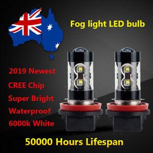 For 2011 2012 2013 Hyundai ix35 Front Fog light Globes 6000k White LED Bulbs kit