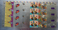 Simpsons Trading Cards Animation Cel C1 C2 C3 C4 C5 C6 Uncut Sheet Promo Poster