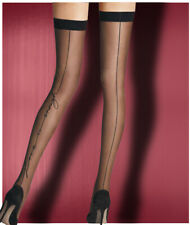 Love is Enough black thigh high stockings back seam sexy nylons Pearl & Poseidon