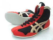 asics Boxing Shoes Short type Original color Black x red x gold