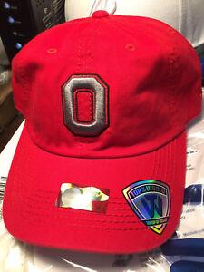 Ohio State Buckeyes NCAA Crew Relaxed Strapback Hat Cap University Columbus OSU