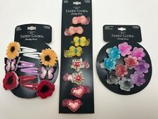 Faded Glory girlshair clips, snaps, salon clip 3 pack, brand new