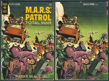 1967 U.S. GOLD KEY M.A.R.S. PATROL TOTAL WAR No. 4 Comics