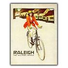 Raleigh bicicletas motos Letrero Metal Placa de pared vintage Anuncio Arte