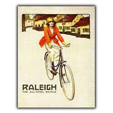 Raleigh bicycles bikes métal signe plaque murale vintage pub art imprimé 1940s