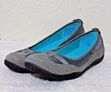 Privo CLARKS Womens Sz 9 w Gray Leather Comfort Slip On Ballet Flats NWOB
