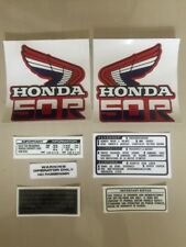 VINTAGE Honda Z50 Z50r  DECAL KIT GAS FUEL TANK Monkey Bike MiniTrail 1985