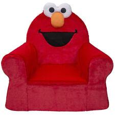 Marshmallow Furniture Comfy Foam Toddler Kid Chair, Sesame Street Elmo