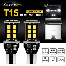 15-SMD T15 921 912 LED Reverse Back Up Light For Toyota Honda Lexus 6000K 2400LM