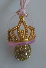 24pcs Baby Shower PRINCESS pacifiers Favors (pink&gold)