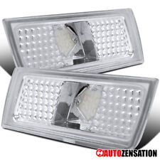 For 2004-2010 Chrysler 300C Clear Front Side Marker Lights Bumper Signal Lamps