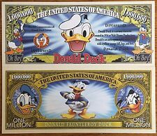 Disney Donald Duck Million Dollar Bill
