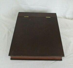 Vintage The Bombay Co. Dark Wood Slant Top, Lap/Writing Desk