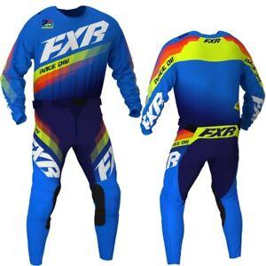 Brand New FXR Adult Clutch Blue/Navy Motocross MX Kit Size 30W Medium Jersey