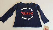 "NEW Levi's Baby Boys "" GOOD GUYS WEAR LEVI'S"" Long Sleeves Tee Sz. 18 Mos"