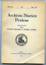 Archivio storico pratese - 1966 Fasc. I-IV. Periodico della Societ… Pratese di S