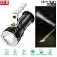 New Bright Searchlight Handheld Spotlight LED Portable Rechargeable Flashlight