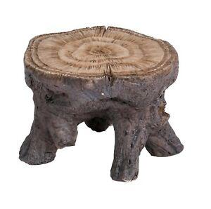 Log Table Ornament - Brown Vivid Arts - Miniature World MW03-026