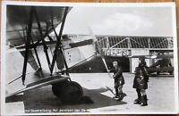 Soesterberg Camp/Airport, Airplane 1940s Dutch Realphoto Aviation Postcard