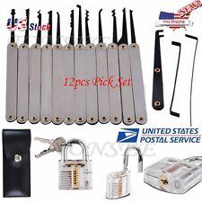 Transparent lock Practical Unlocking Tools for Locks 12pcs Pick Set USA