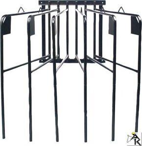 AMKA Pferde Deckenhalter 6 armig schwenkbar schwarz Pferde Deckenhalterung
