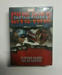 *NEW & SEALED!* Captain America Civil War Playing Cards *52 Card Art*