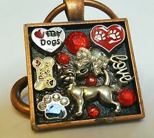 Cute Red And Black One Of A Kind Chihuahua Key Chain