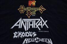 1988 HEADBANGERS BALL MTV t-shirt vtg 80s anthrax euphoria helloween exodus L/XL