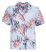 Cyberjammies Olivia Blue Floral Print Cotton Pyjama Top BNWT