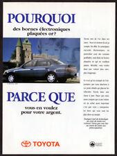 1996 TOYOTA Corolla Sedan Vintage Original Print AD - Blue car photo Canada FR