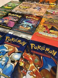 *You Choose* 1x Empty Pokemon Pack Art All Languages Base Team Rocket Neo Fossil