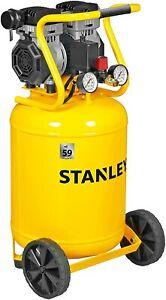 Kompressor Siltek Vertikaler 1,3 PS 50 Liter Ohne Öl Stanley Druckluftgerät