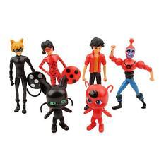 6pcs Miraculous Ladybug Cat Noir Adrien Marinette 8-13cm Figures Doll Toys B