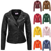 Only Damen Bikerjacke Übergangsjacke Kunstlederjacke Damenjacke Jacke Color SALE