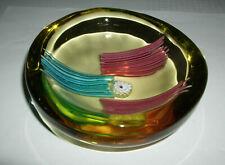 besondere alte Glas Schale Murano - Glaskunst - 135 mm Durchmesser 50 mm hoch