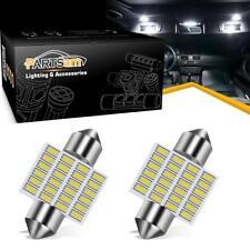 """Double 1.25"""" Festoon 10-30V White 3021 3175 LED Interior Dome Map Light Bulbs"""