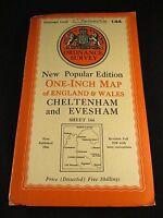 Vintage Ordnance Survey Sheet Cloth Map of Cheltenham  - No. 144  dated 1946