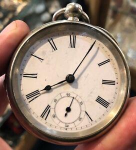 Vintage Silver Pocket Watch (b)