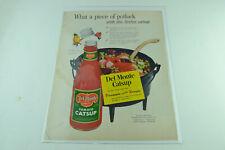Del Monte Catsup Pineapple Vinegar Full Page Print Ad 219