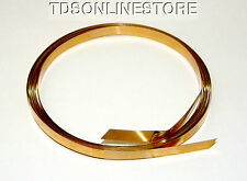 Brass Flat Bezel Wire 3/16 Inch Wide 10 Foot Package