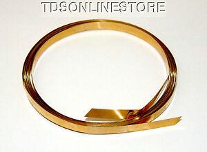 Brass Flat Bezel Wire 3/16 Inch Wide 10 Foot Package