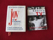 LOT OF 2 COOKBOOKS EMERIL'S TV DINNERS 1998 AND JOY OF COOKING 1983 13TH PRINT