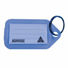 More details for kevron plastic clicktag key tag blue pack of 100 id5blu100