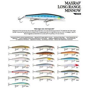 Rapala Max Rap Long Range Minnow // MXLM12 // 12cm 20g Lures (Choice of Colors)