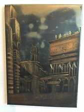Scene Etched On Metal 10x14 Middle Eastern Market