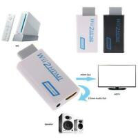 Wii to HDMI Wii2HDMI Full HD FHD 1080P Converter Adapter 3.5mm Audio Output H1T8