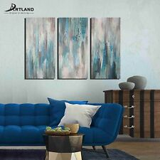 Framed Abstract Canvas Art Hand-painted Oil Painting'Sea of Clarity'  —ARTLAND