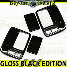 99-16 FORD F250 F350 F450 F550 2DR Std/Ext GLOSS BLACK Door Handle Covers w/ PSK