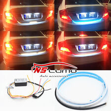 LED Flow Strip Trunk Box With Side Turn Signals Rear Light Blue Red Yellow White